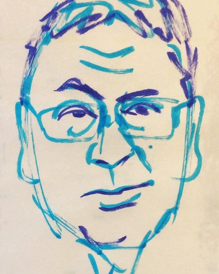 いいね!26件、コメント1件 ― @1mindrawのInstagramアカウント: 「#kazuoishiguro #カズオイシグロ #novelist #小説家 #novelprizeinliterature #ノーベル文学賞 #19541108 #birthday…」