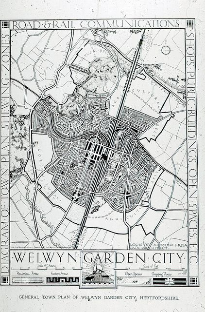 General Plan of Welwyn Garden City - 1920.
