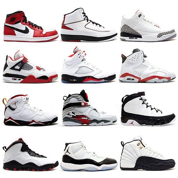 Air Jordan - 1 to 12.