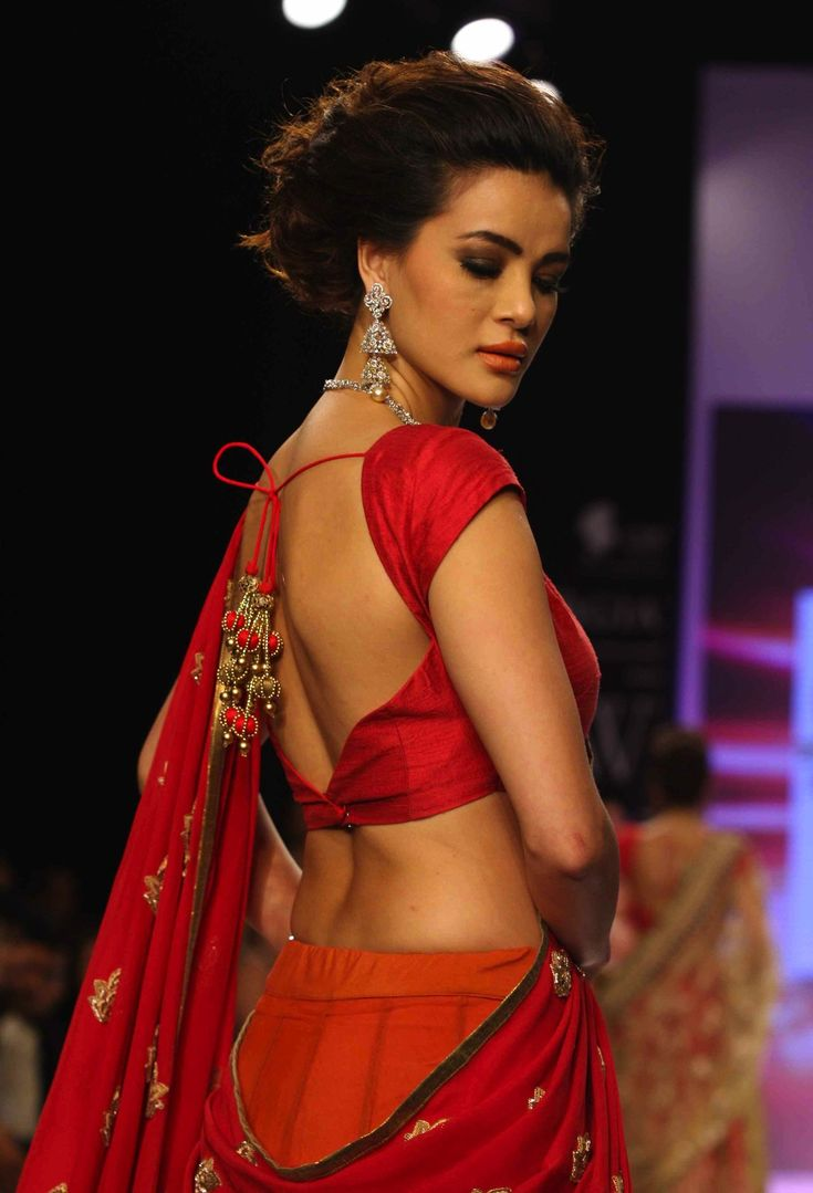 lovely choli cut and warm hues