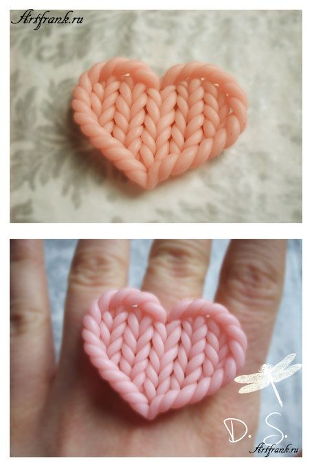 knit heart- would make for a nice patch.