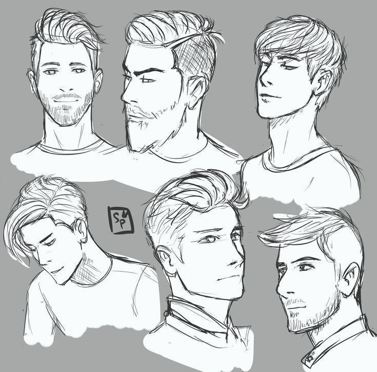 Hairstyles Drawing Reference Female Hairstyles Drawing Reference In 2020 Guy Drawing How To Draw Hair Drawing Male Hair