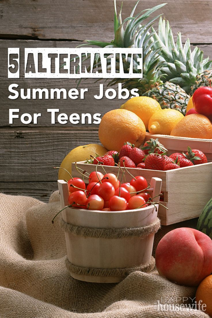 There are many jobs out there geared toward teens, but when you are looking for something unique, these are great choices for building character, earning money, and working into the summer schedule. | The Happy Housewife