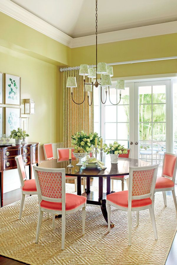 No 4 give your dining room a splash of bold color 8 for Bold dining room colors