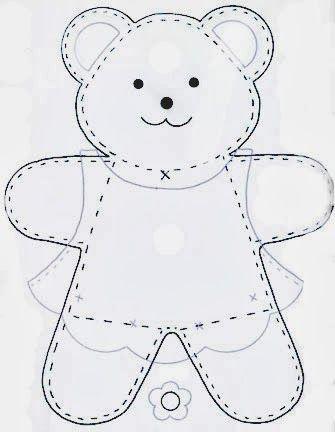Amigas do Feltro: Moldes de ursinhos