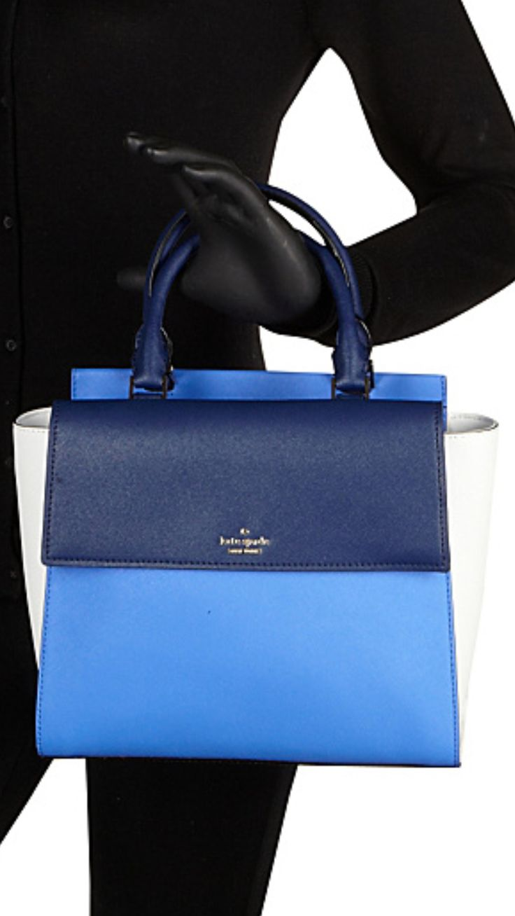 Kate Spade Cameron Street  Blakely Satchel $ 395  Blue  Leather