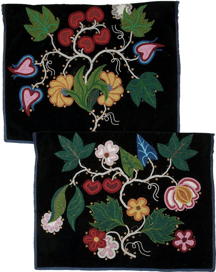 TWO CHIPPEWA BEADED CLOTH APRONS. c. 1900... (Total: 2 Items) | Lot #50140 | Heritage Auctions