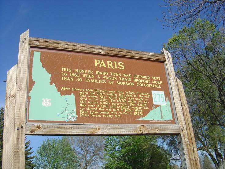 Idaho, joli petite village crée en 1863 par des pionniers mormons. Poste croquignolette et grosse église. Pas très loin se trouve aussi Montpelier, avec un seul L, eh oui !