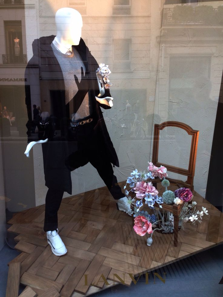 """LANVIN, Paris, France,""""If you think squash is a competitive activity,try flower arranging!"""", pinned by Ton van der Veer"""