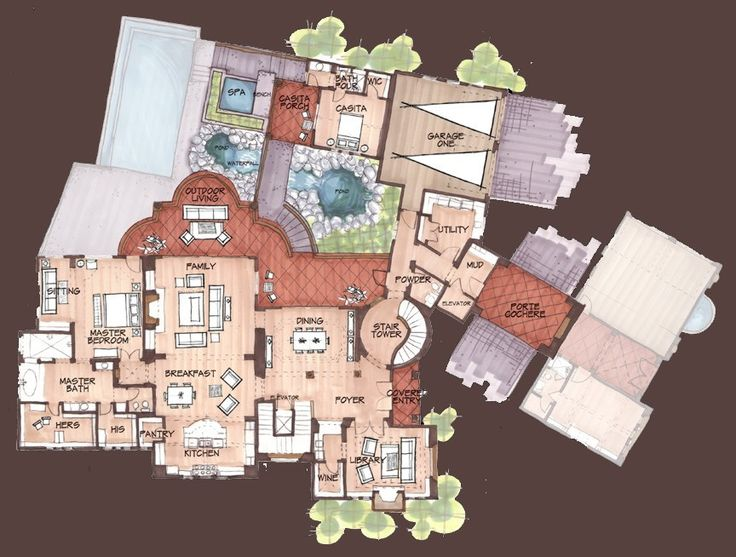 998 best floorplan porn images on pinterest penthouses for Fantasy house plans