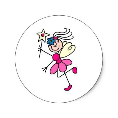 Pink Stick Figure Fairy