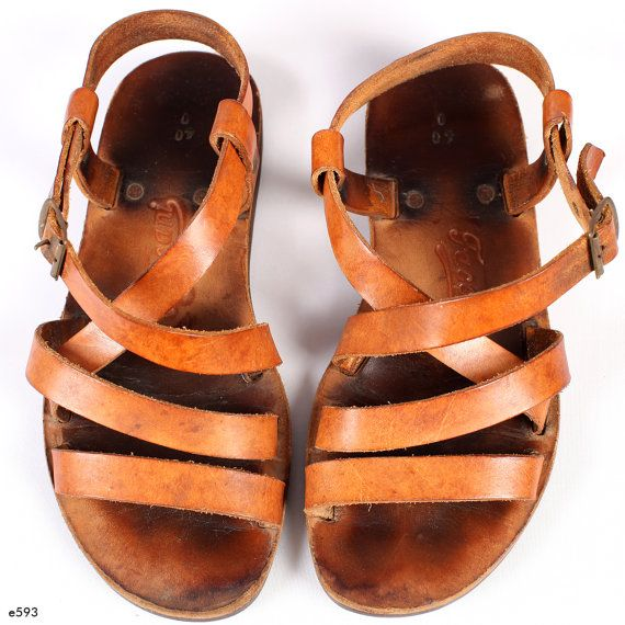 Vintage Leather GLADIATOR Sandals. Strap Summer от BetaApparel