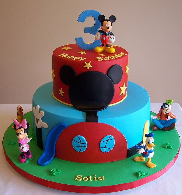 Mickey Mouse Clubhouse Cake   mickey mouse clubhouse cake 10 and 6 cakes inspired by many designs ...