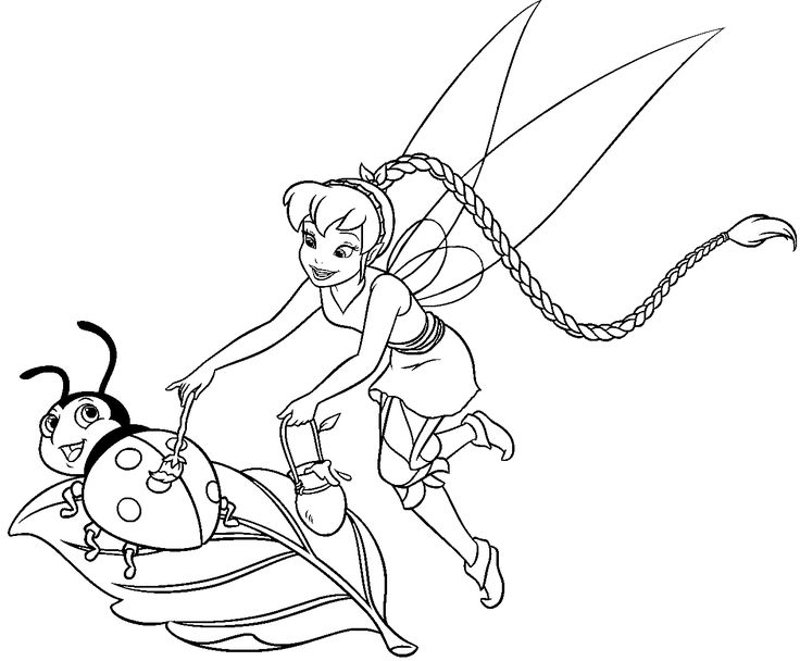 8 best Tinker Bell images on Pinterest | Coloración adulta, Colorear ...