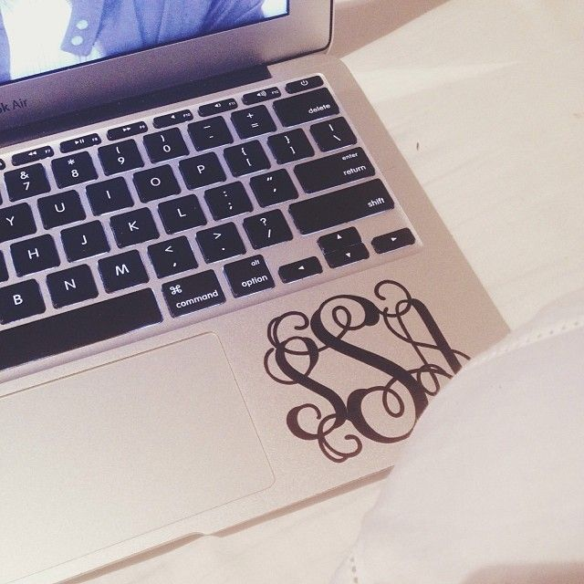 MacBook monogrammed sticker