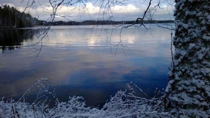 Talvi tulee #Puula #lake #winter