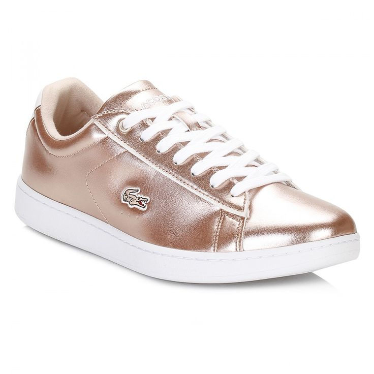 Lacoste Womens Light Pink Carnaby EVO 316 2 Trainers 7-32SPW011315J | TOWER London #LACOSTE #shoes #trainers #footwear #sneakers #metallic #rosegold #winter