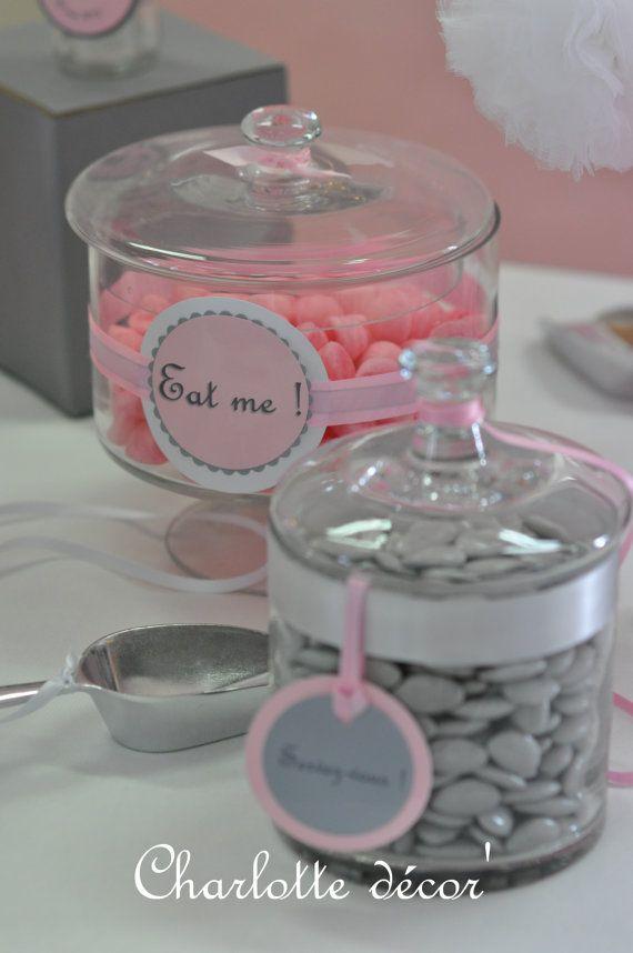 Lot 10 étiquettes pour Candy Bar  ruban par Charlottedecor7 sur Etsy