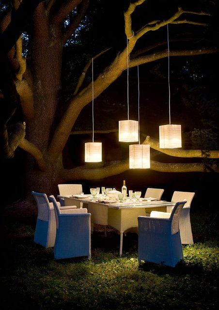 great set-up for an outdoor dinner/event