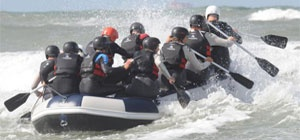 Just had an amazing day with my colleagues thanks to http://www.zomertijdstrand.nl We went #rafting #beach