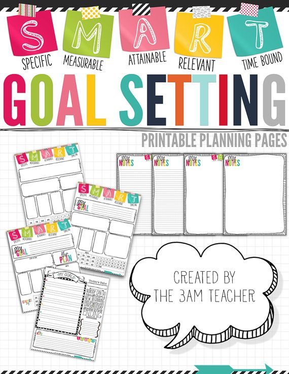 Create A Smart Goal Board Smart Goals  Manila Folder Goal Board