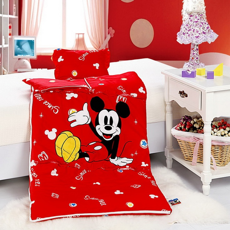 Mickey Mouse Red Disney Sleeping Bag Sets Mickey Mouse