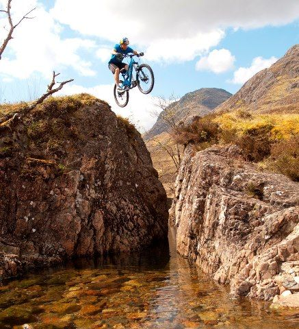 This is a shot of Danny MacAskill doing his stuff at Glencoe! Photo by Danny MacAskill, Glencoe, Highlands.