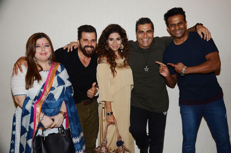Delnaaz Irani, Bhakhtyar M Irani, Tanaaz Irani, Shailendra Singh and Siddharth Kannan at writer-director Shailendra Singh's Drinks, Drama Aur Dhokha short film launch