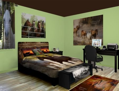 Horses Running Wild Bedding Design at http://www.visionbedding.com/Horses-Running-Wild_Bedroom-rm-12256