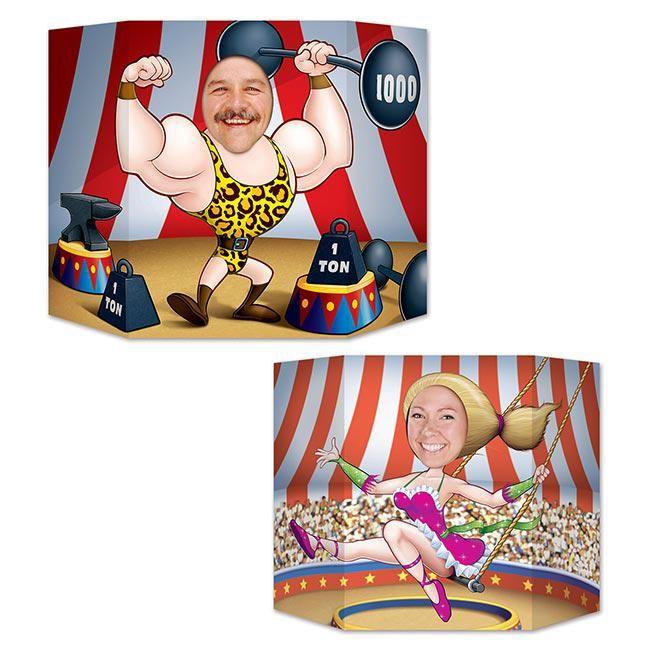 """Décor pour photo """"Cirque rigolo"""" 94 x 64 cm"""