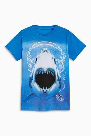 Blue Shark T-Shirt (3-16yrs)