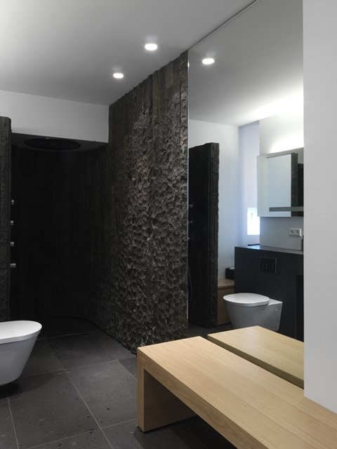 *modern interiors, bathroom design, wall textures*