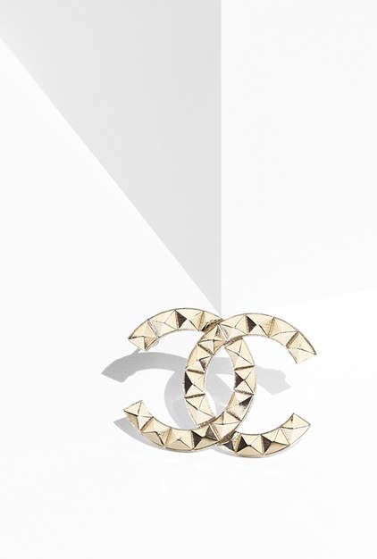 Brooch, metal-gold - CHANEL