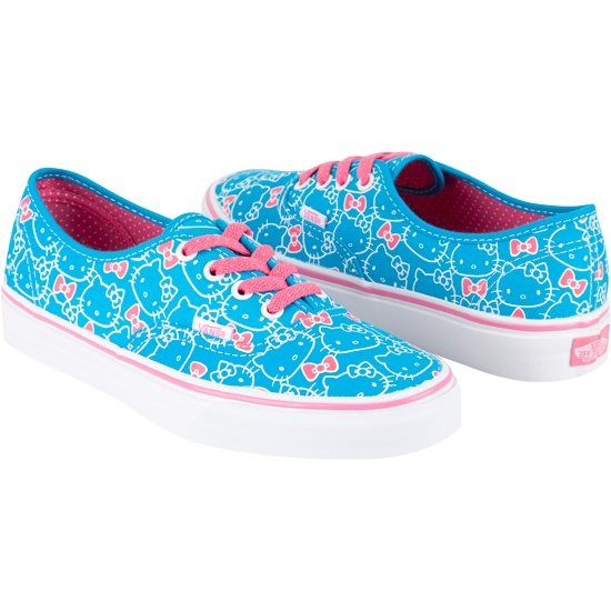 Hello Kitty Vans got a pair like this for Christmas
