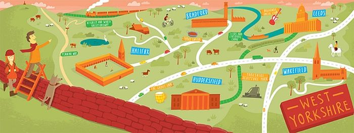 readersmaps: Yorkshire map by Tom Wooley