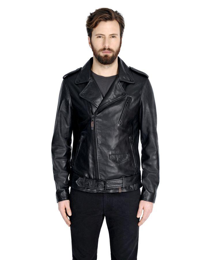 RUDSAK Leather Jackets (BLACK, GENUINE LAMB LEATHER) | SEAN
