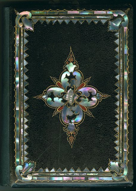 Mid 19th century mother-of-pearl book binding