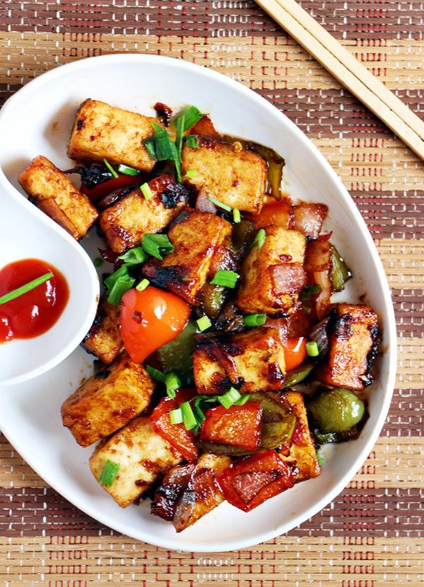 dinner ideas: Paneer manchurian dry, quick and easy way! (with vegan option)  Recipe @ http://cookclickndevour.com/paneer-manchurian-recipe  #cookclickndevour #streetfood #snack #recipeoftheday