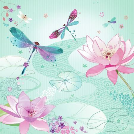 Lynn Horrabin - lilies and dragonflies.jpg