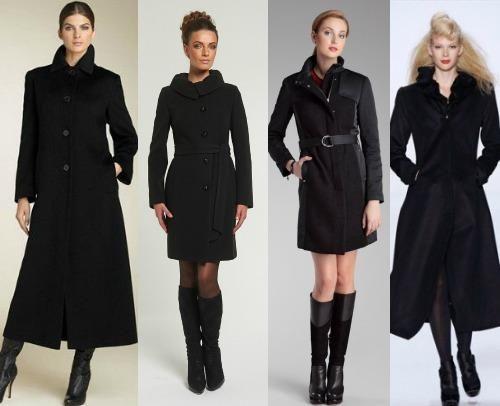 Можно под классическое черное пальто носить ботинки