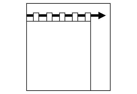 Vorhang »Sento«, , Schlaufen (1 Stück)