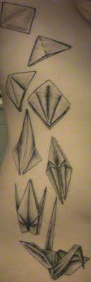 1000 Paper Crane Tattoos