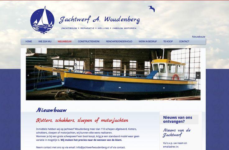 Website Jachtwerf A. Woudenberg