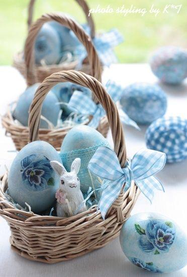 Blue Easter Baskets