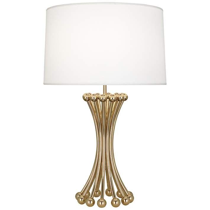 Jonathan Adler Biarritz Polished Brass Metal Table Lamp 64w22
