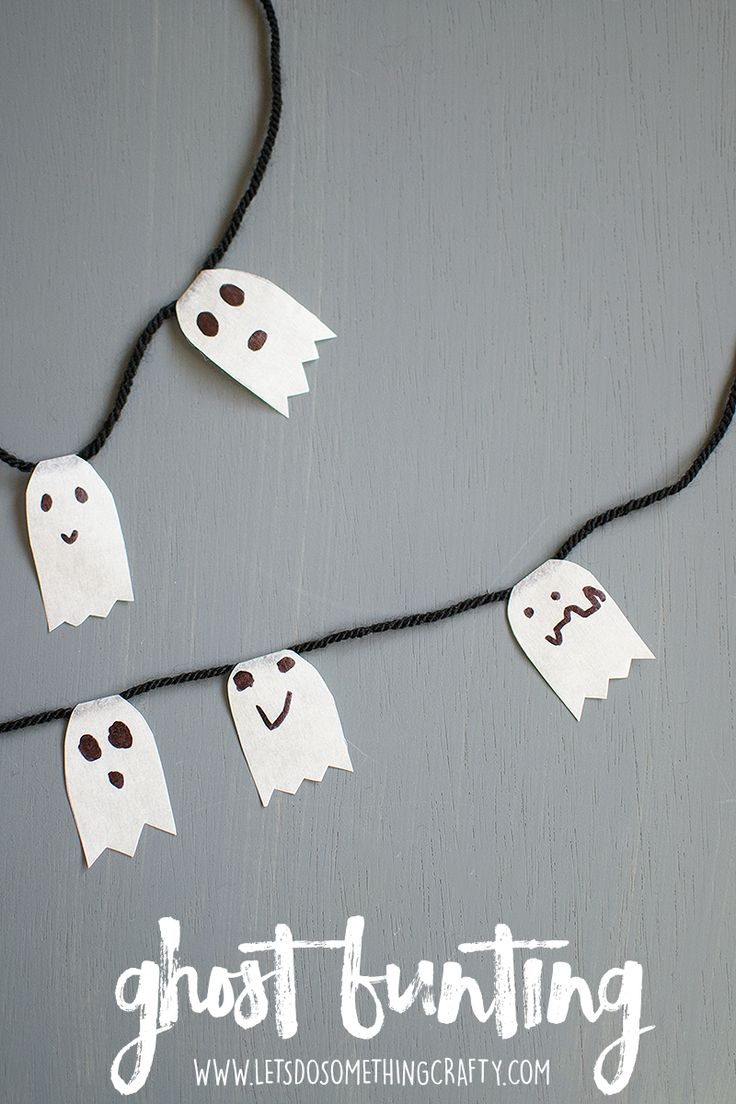 The EASIEST Halloween Ghost Crafts. If you want a simple ghost craft for kids then this one is perfect.
