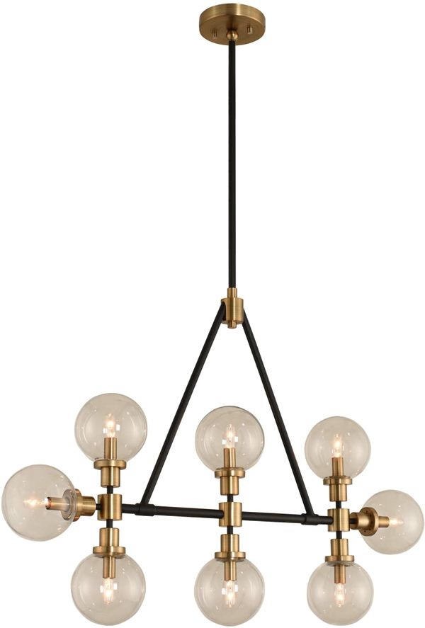 Click To Email For Pricing Kalco 315453 Cameo Mid Century Modern 8 Light Island Pendant