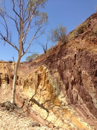 MacDonnell Ranges: Ochre cliffs, near Alice Springs, Northern Territory #Australia