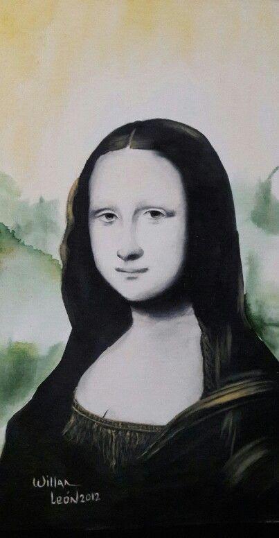 Mona lisa. Acrilico por Willan Leon