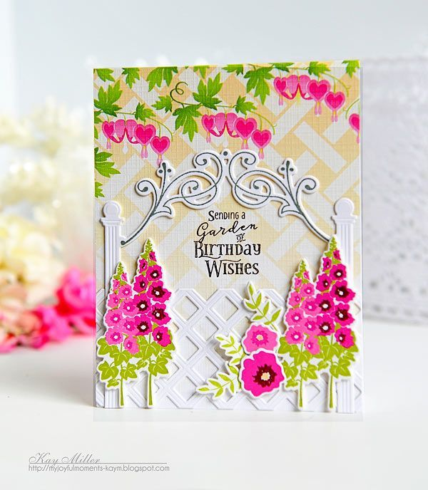 Birthday Wishes Card by Kay Miller for Papertrey Ink (July 2016)